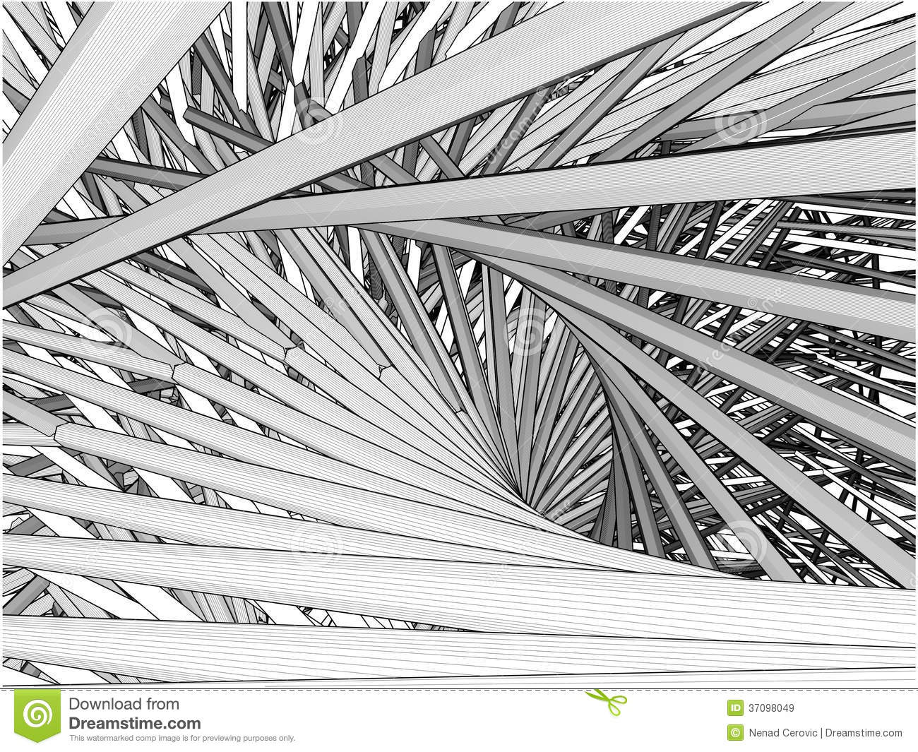 Abstract Urban City Building In Chaos Vector Royalty Free ...