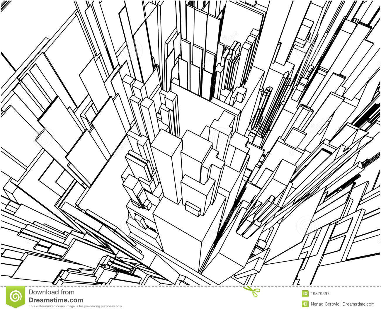 Royalty Free Stock Photography Abstract Urban City Building Vector 109 Image19579897