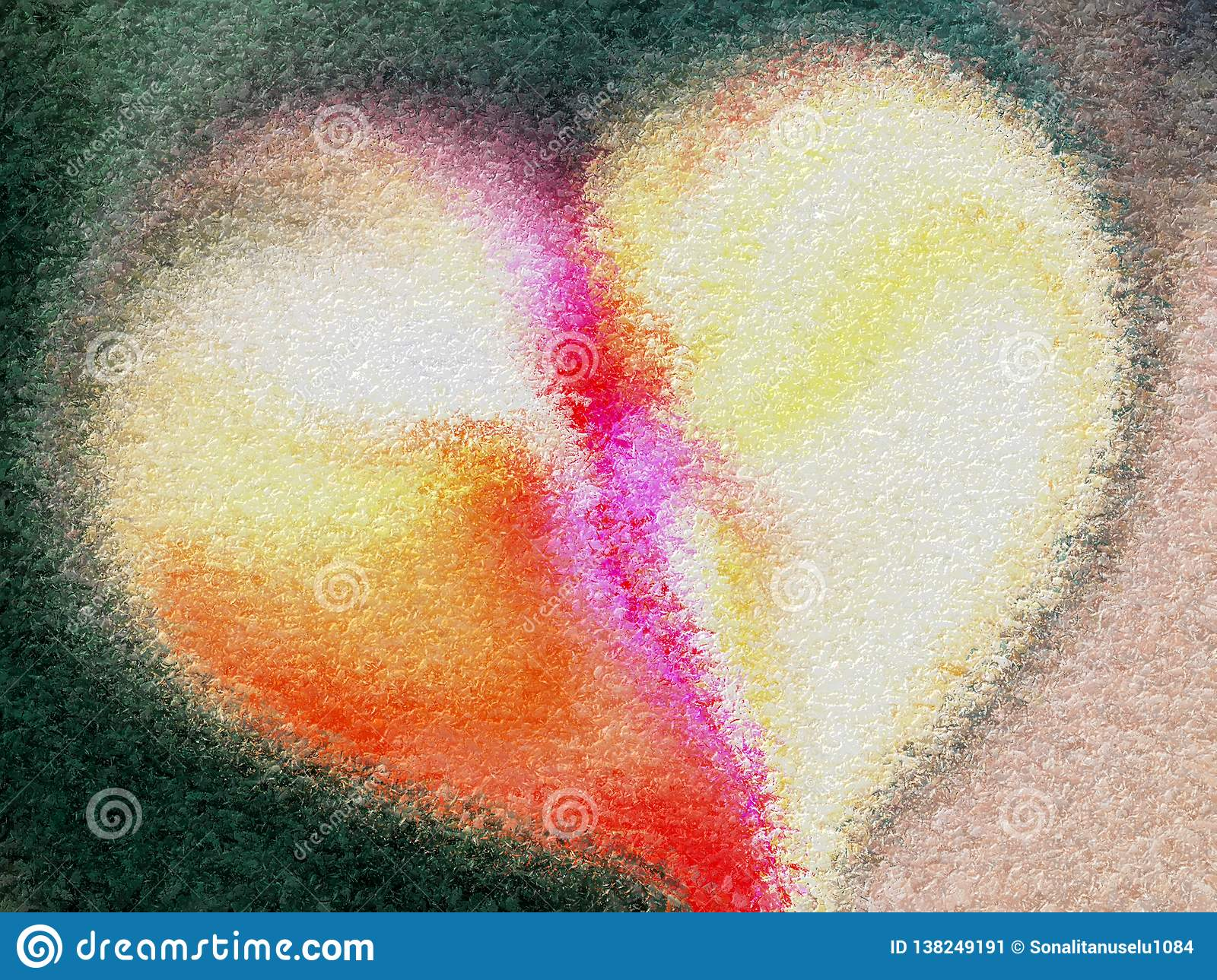 Abstract valentine heart with textured background