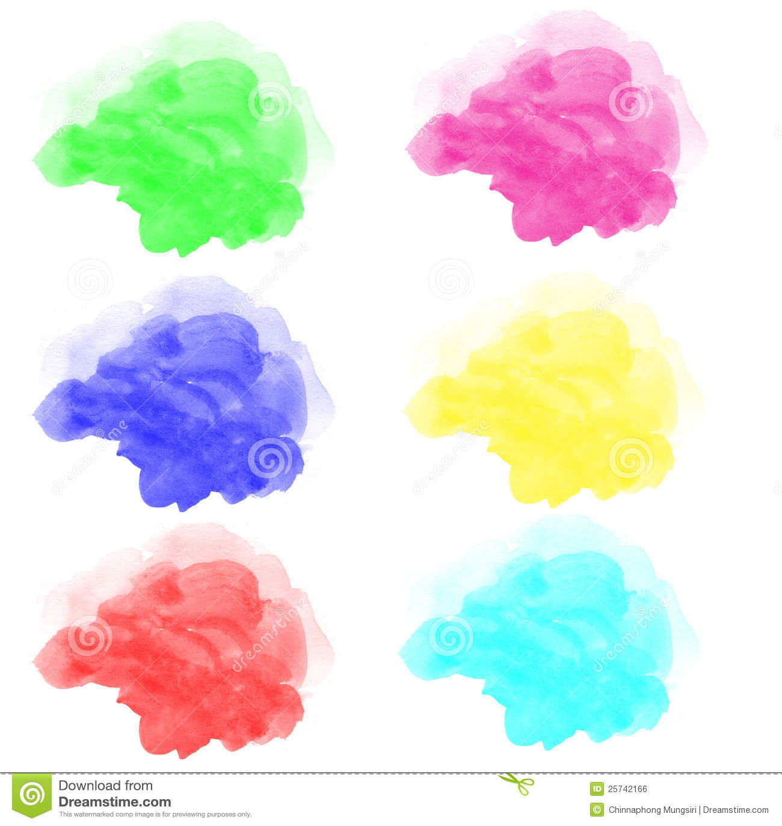 Abstract various watercolor