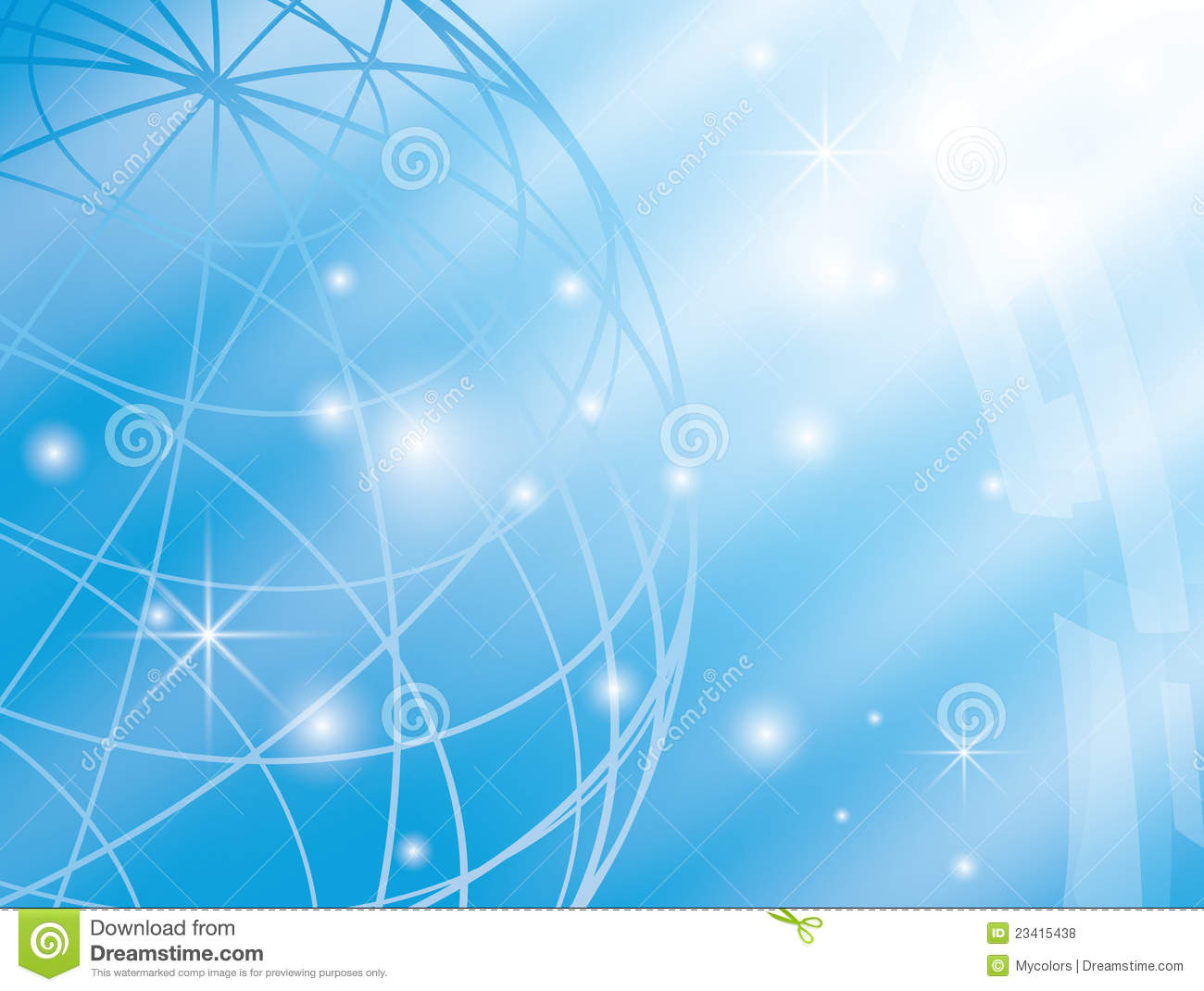 Royalty Free Stock Photos: Abstract vector background with blue globe