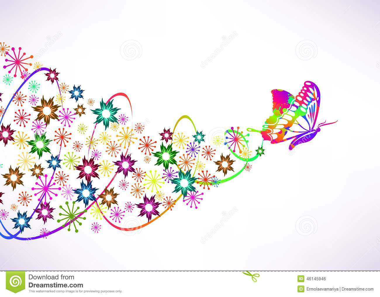 Abstract Vector Background With Butterfly And Stock Vector