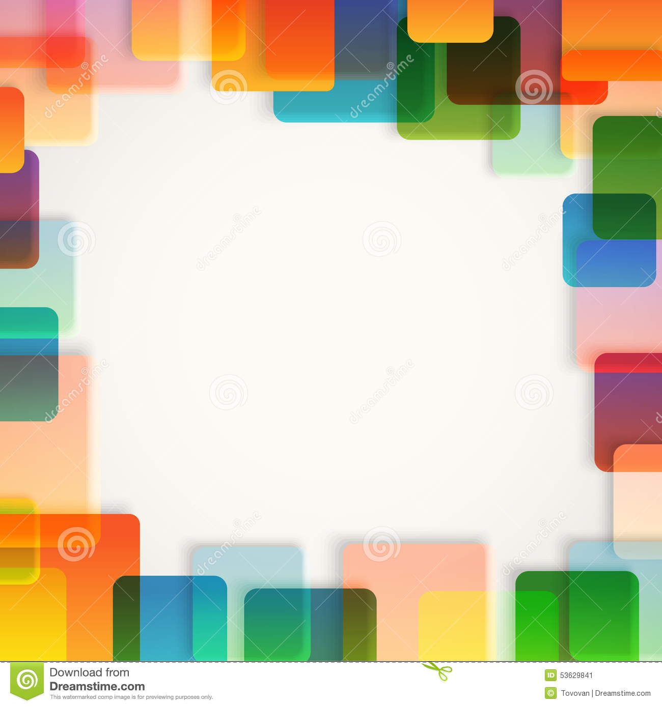 Abstract vector background of different color squares