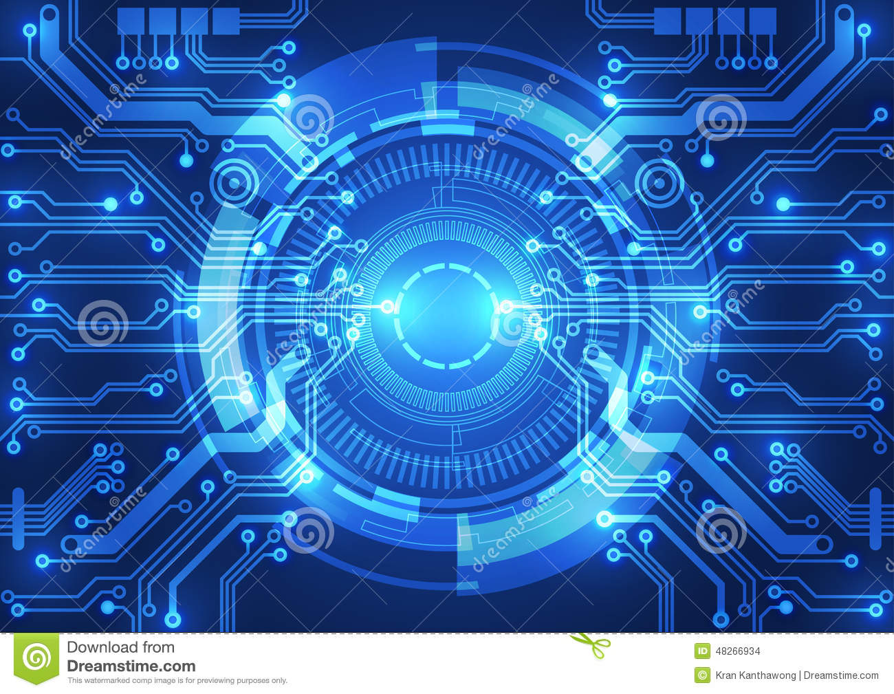 Abstract Vector Background. Futuristic Technology Style ...