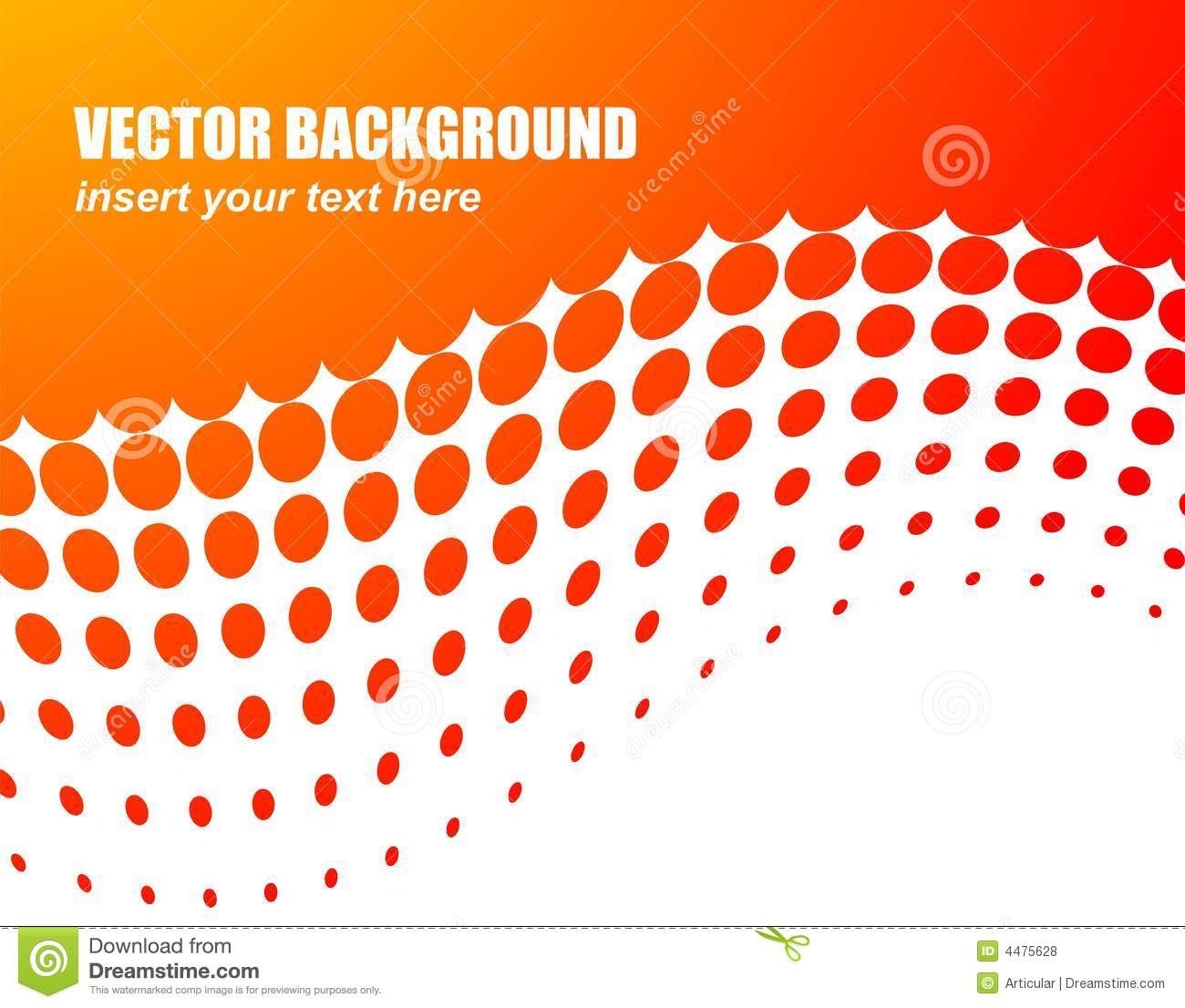Abstract vector background with orange circle