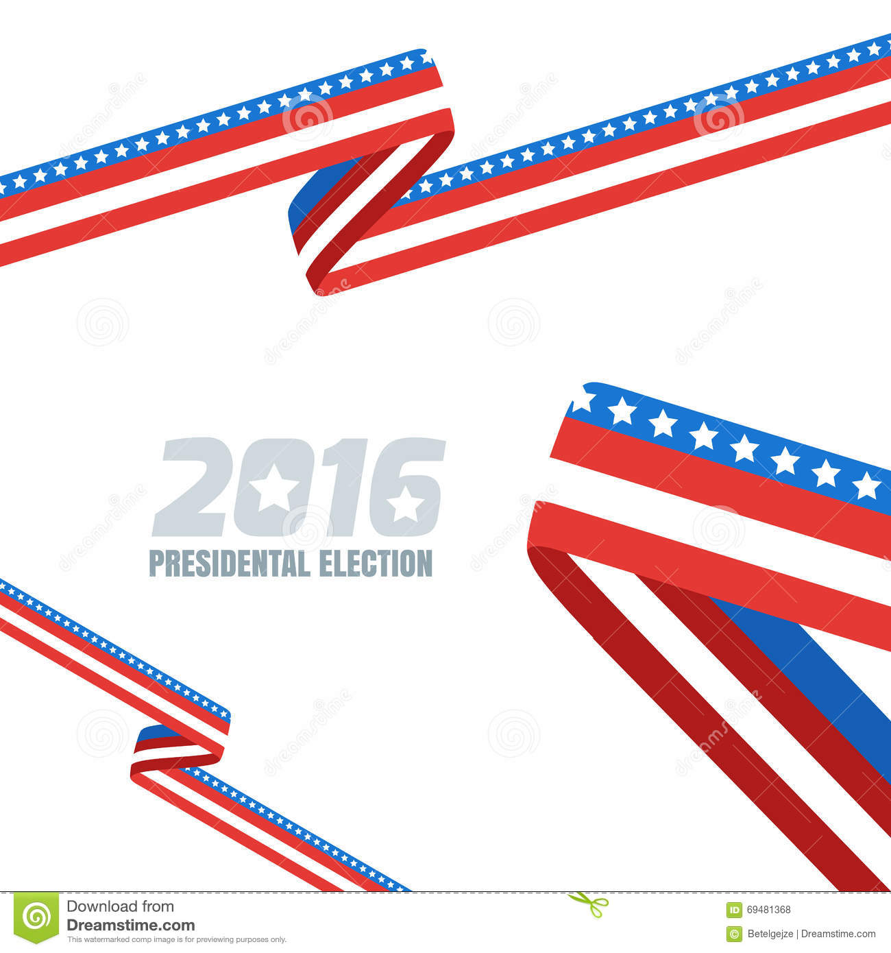 abstract vector background with ribbon in colors of national united