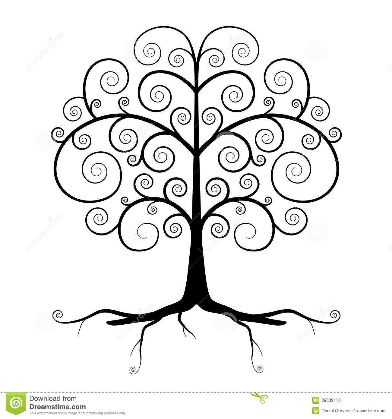 Abstract Vector Black Tree Illustration Stock Photo Image 38339110