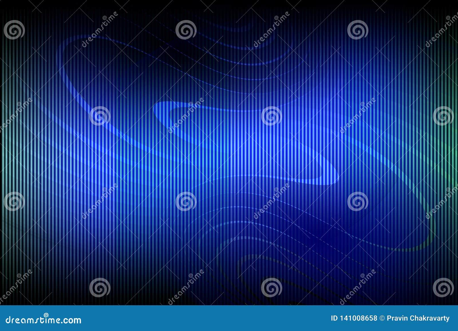 Abstract vector blauw in de schaduw gesteld golvend behang als achtergrond levendige kleuren vectorillustratie