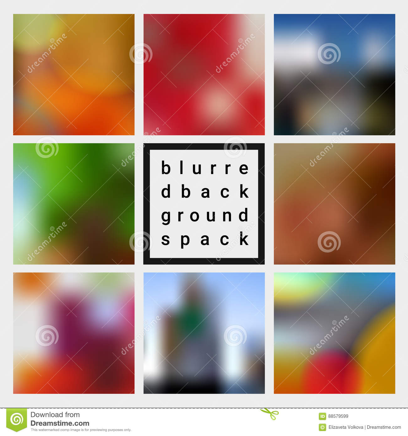 Abstract Vector Blurred Design Backgrounds Pack Stock