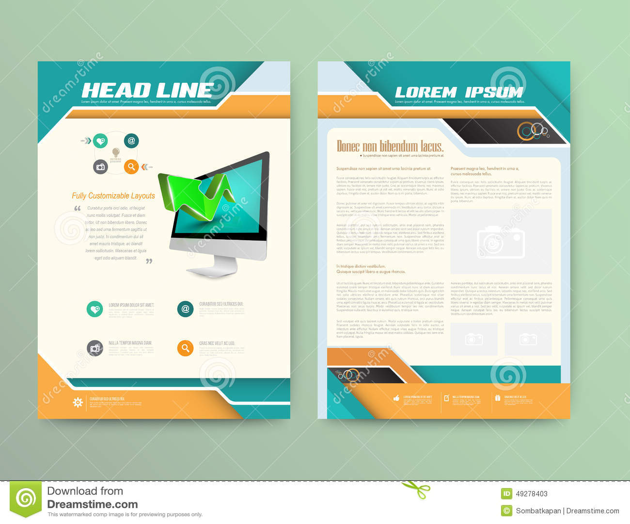 abstract vector brochure template stock vector illustration of