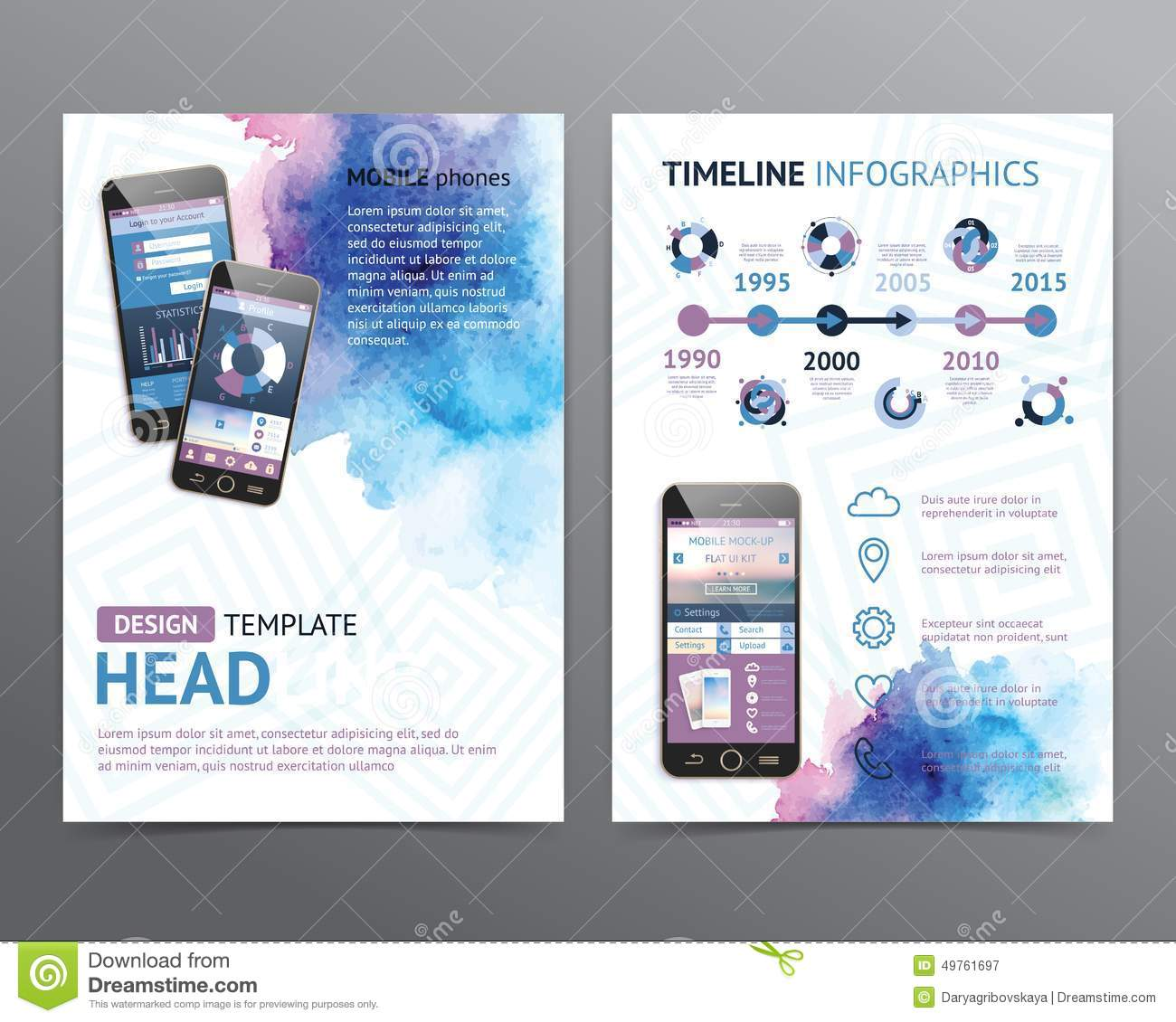 abstract vector brochure template flyer layout stock vector abstract vector brochure template flyer layout