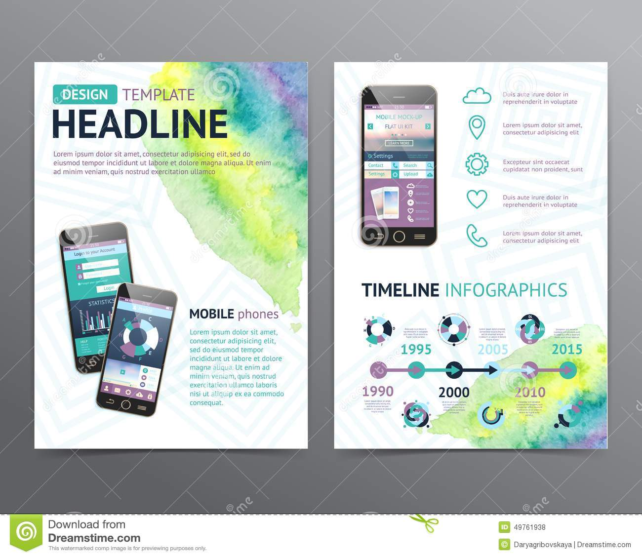 Abstract Vector Brochure Template. Flyer Layout Stock