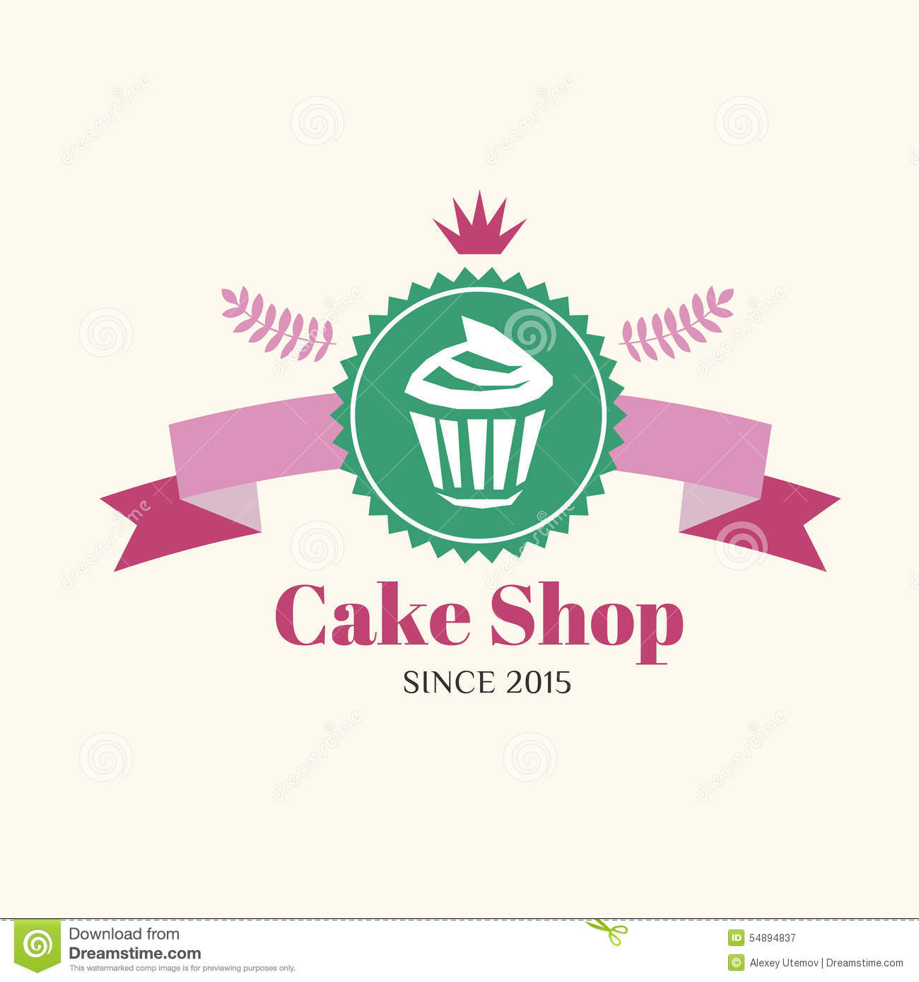 Abstract Vector Cake Vintage Logo Element. Cakes Stock Vector - Image ...
