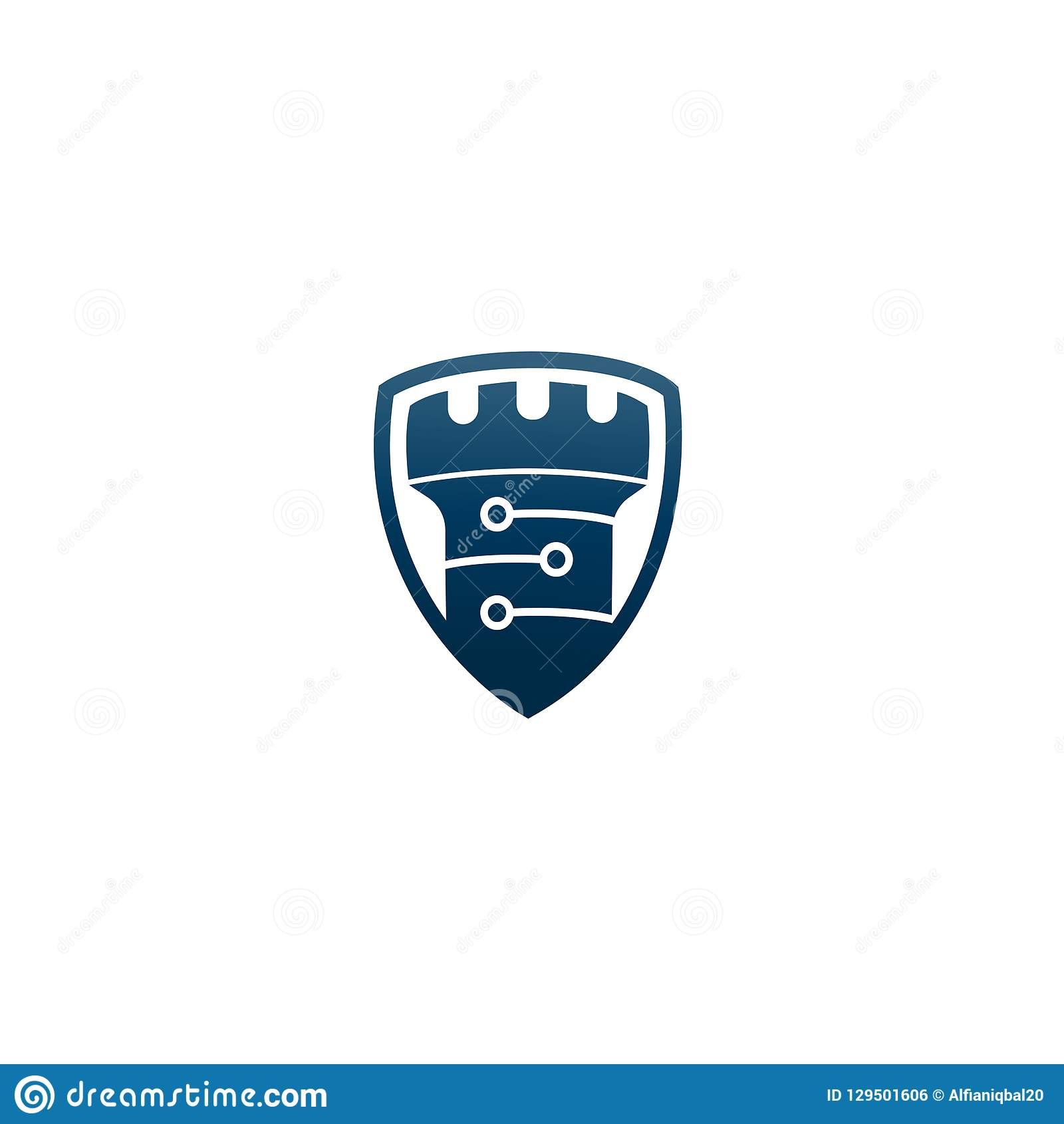 Abstract Vector Castle Tower Shield Logo Icon Vector Castle Logo