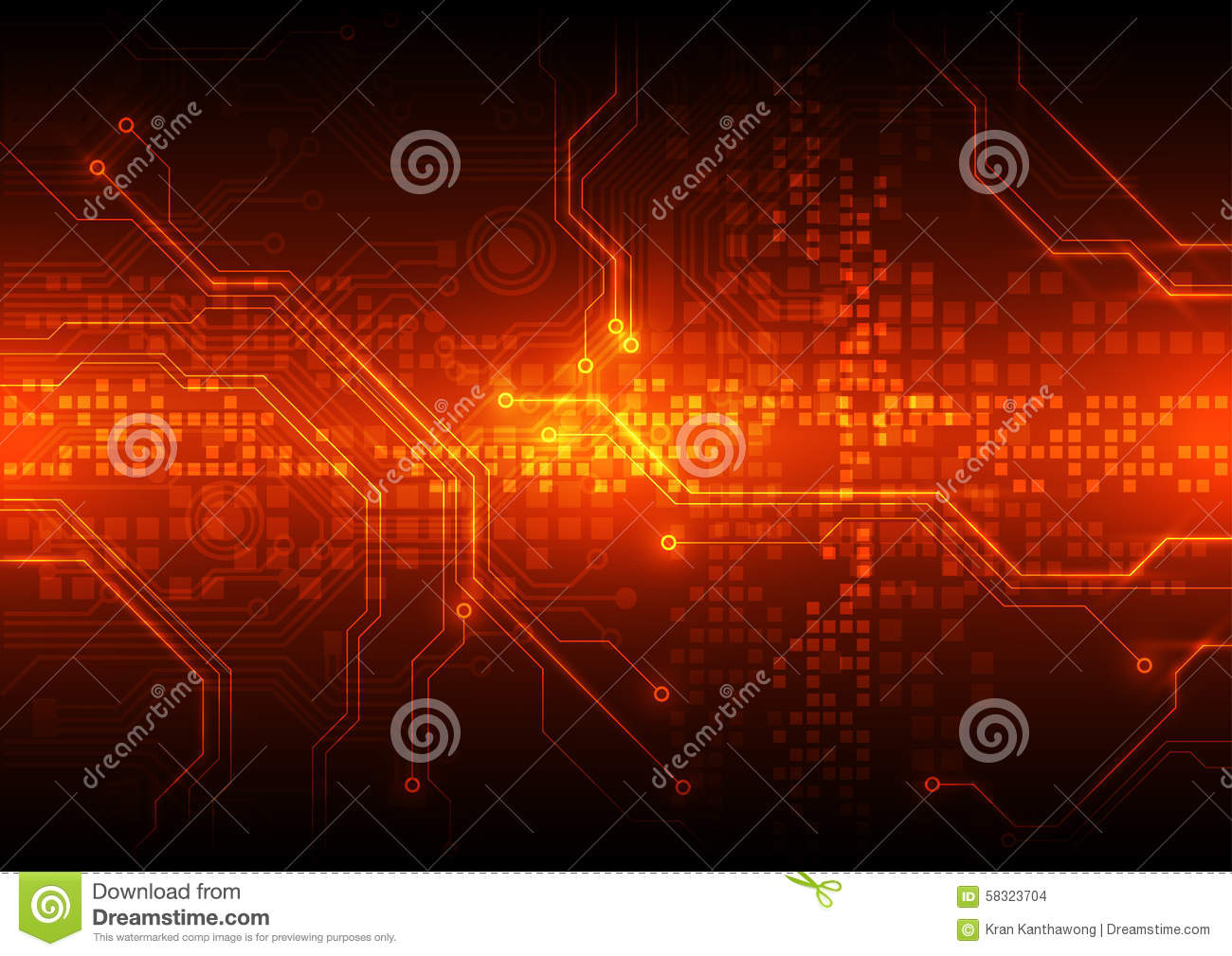 Abstract Vector Circuit Board Background Illustration Stock Design