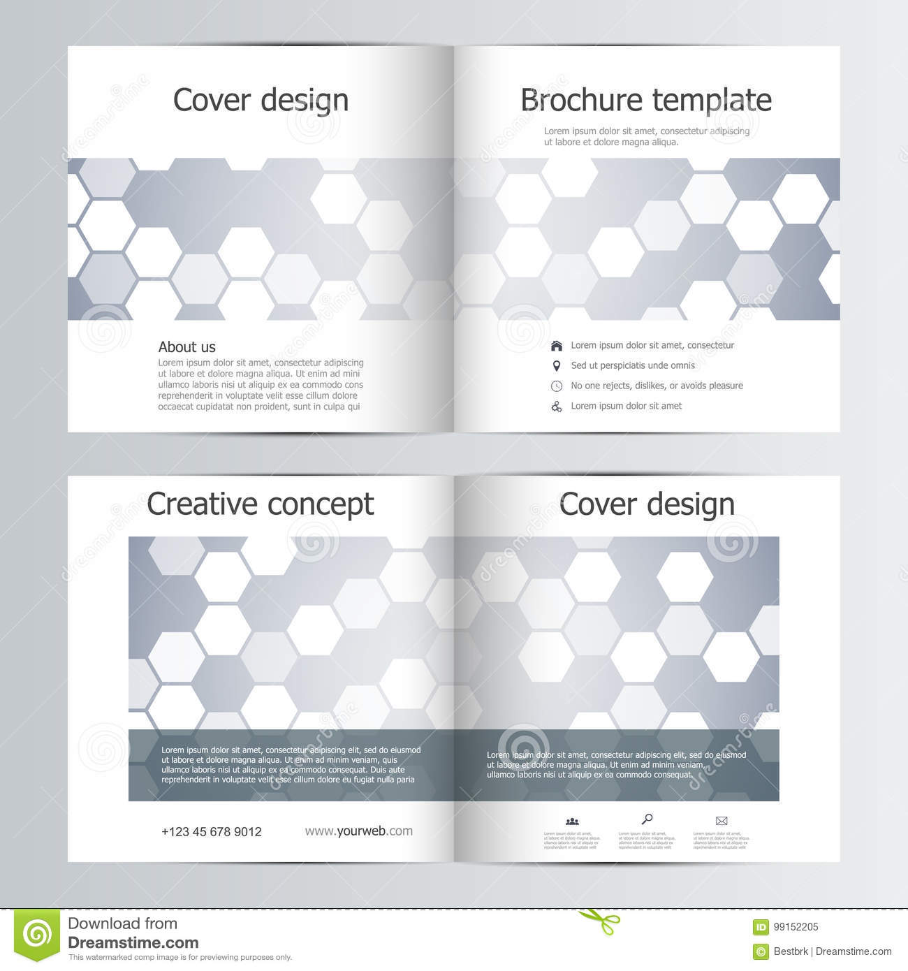 abstract vector covers template set bi fold brochure layout design