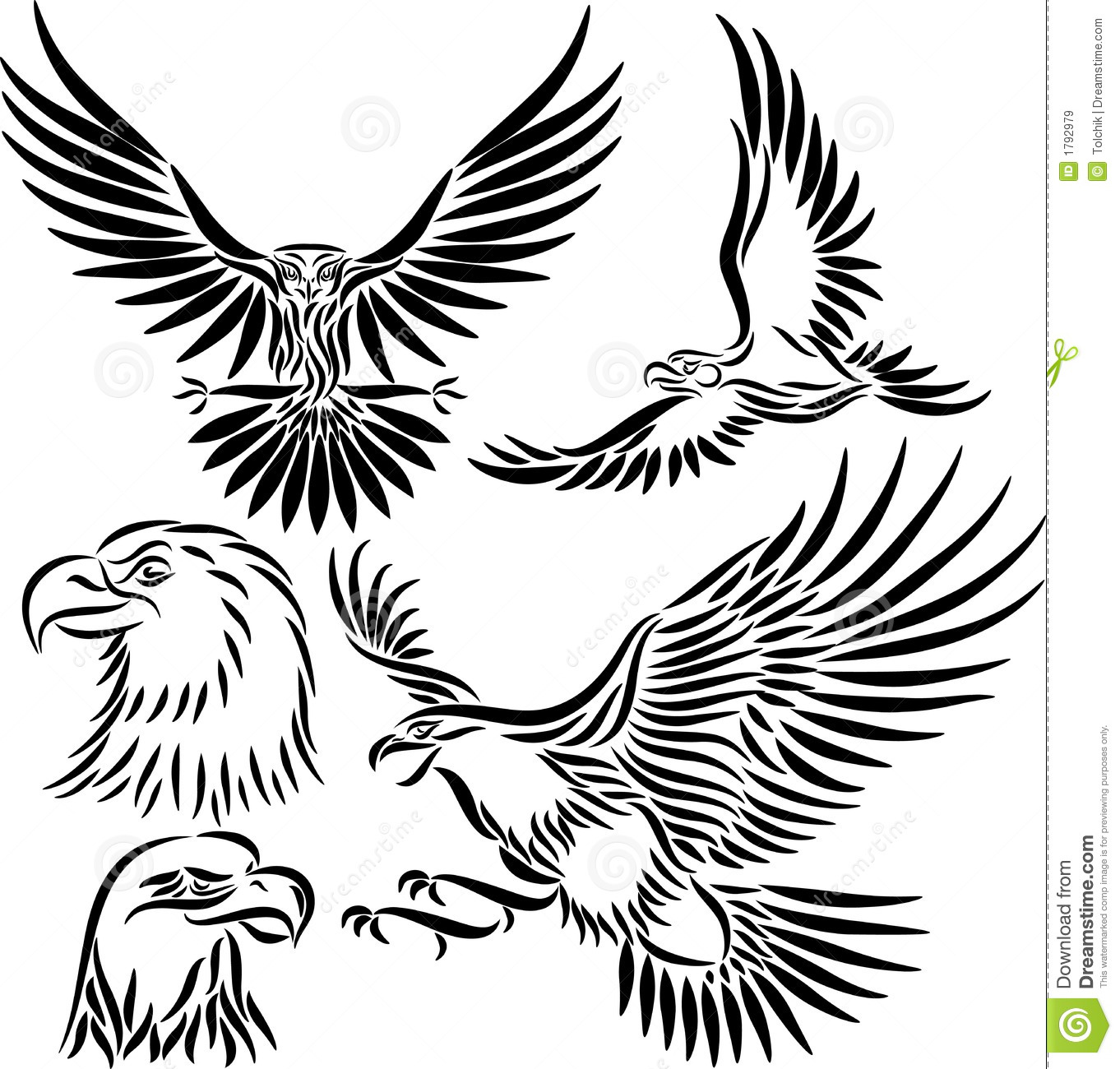 abstract vector eagle stock vector illustration of falcon 1792979. Black Bedroom Furniture Sets. Home Design Ideas