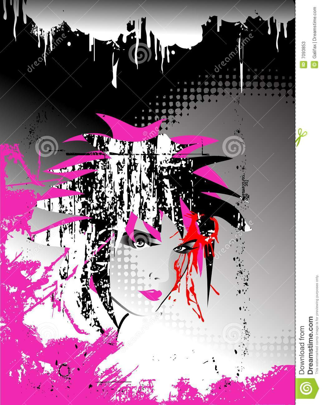 Abstract vector,Emo background