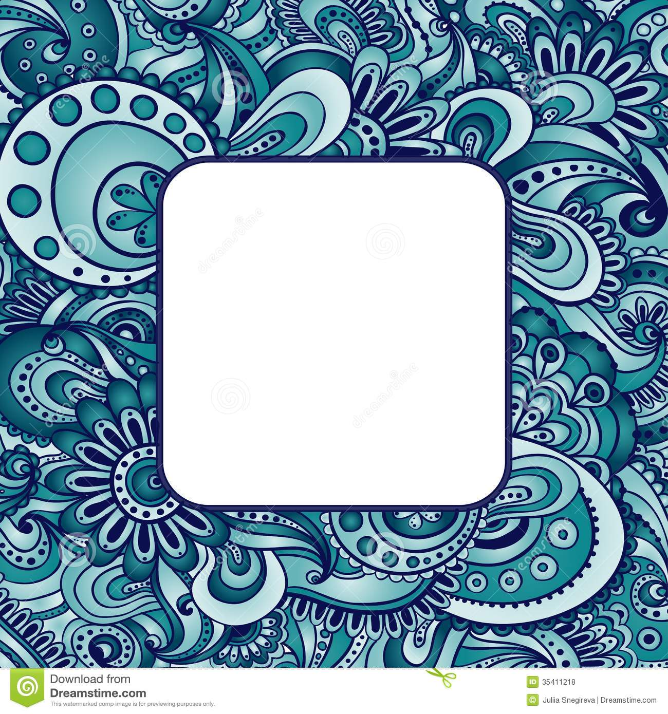 Abstract Vector Ethnic Pattern's Border. Stock Vector