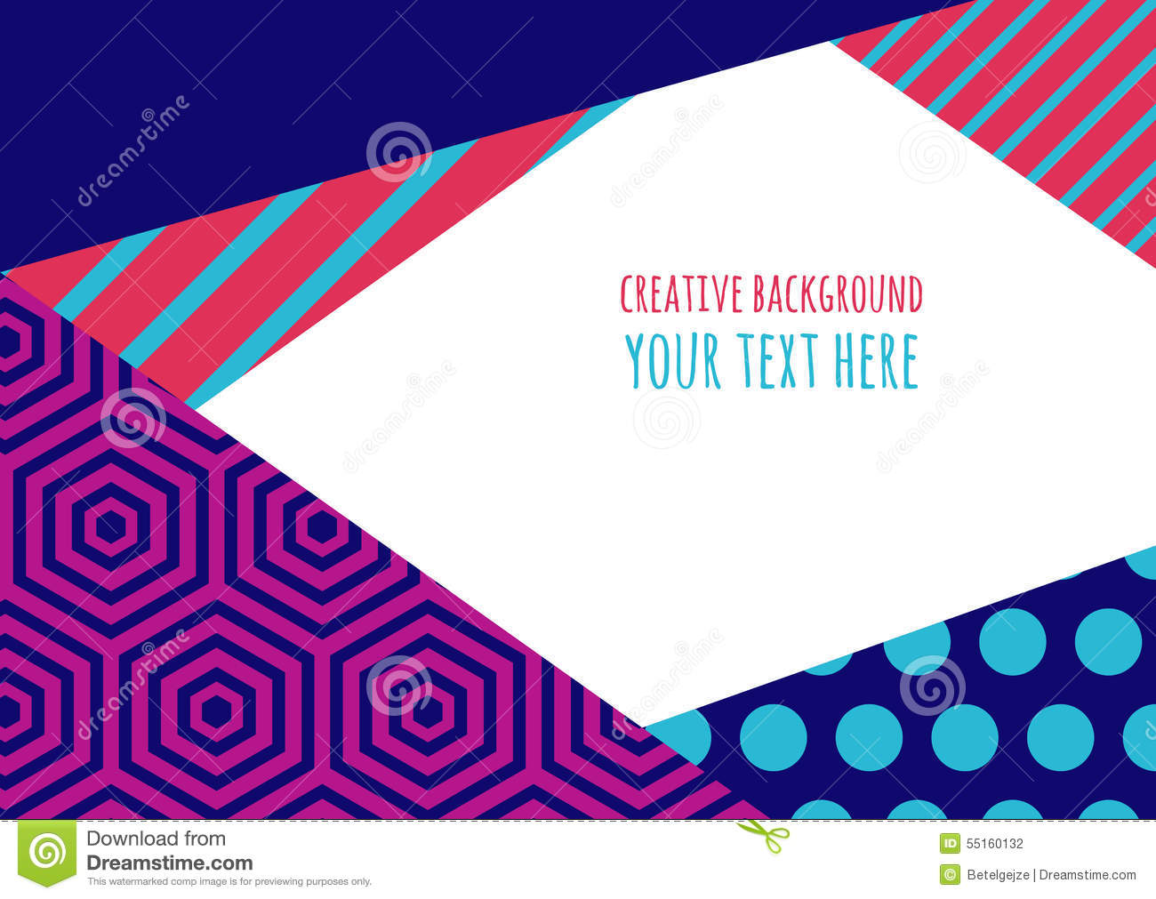 Color Abstract Vector Background Text Frame Stock Vector: Abstract Vector Flat Creative Background. Multicolor Color