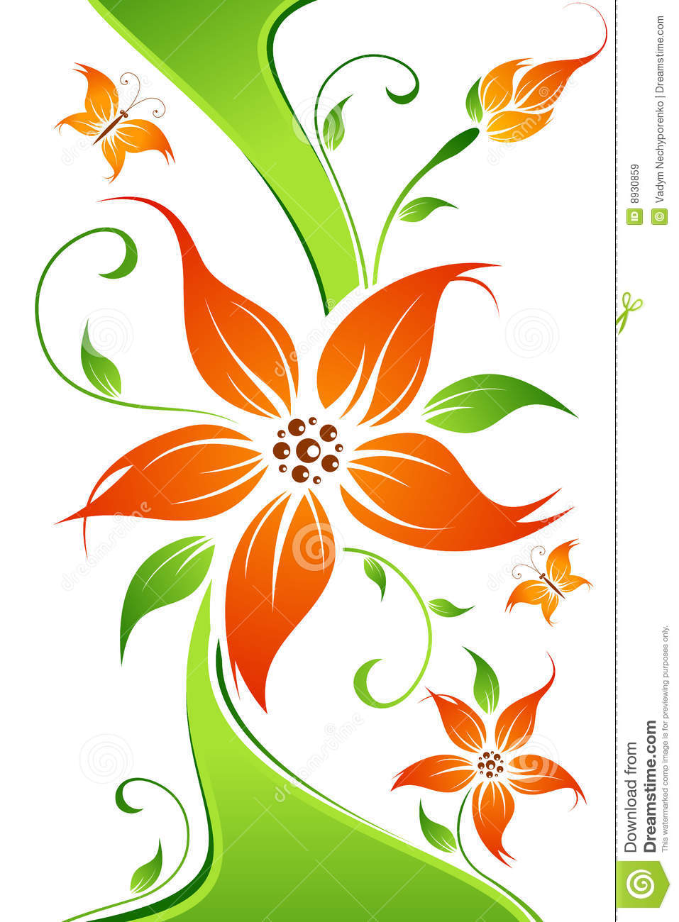 Dragon vector sign stock vector 313643336 shutterstock - Abstract Vector Flower Background With Butterfly Royalty Free Stock