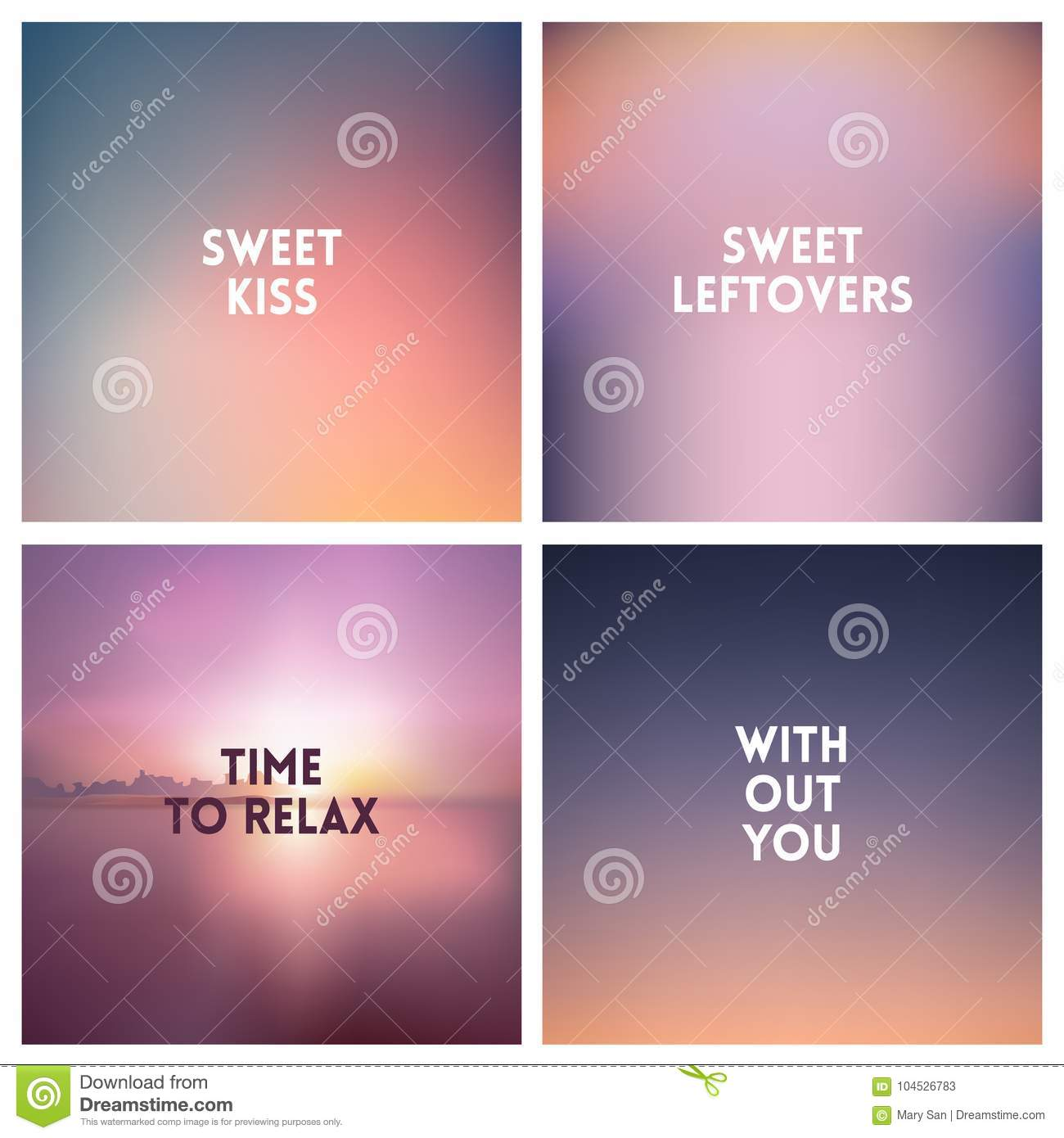 abstract vector fog blurred background set square blurred