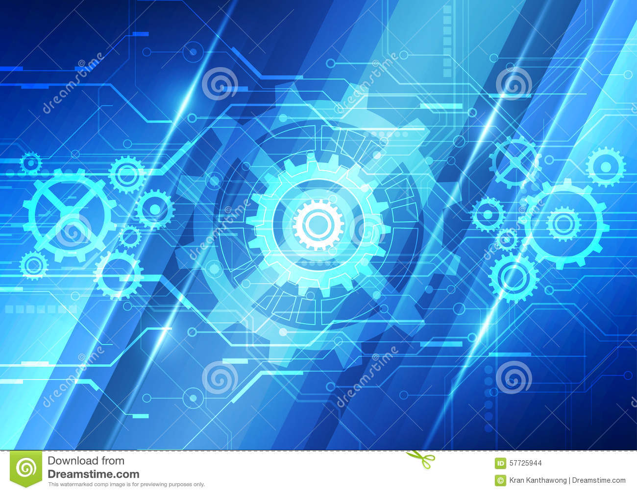 Abstract vector future technology engineering background for Design teich