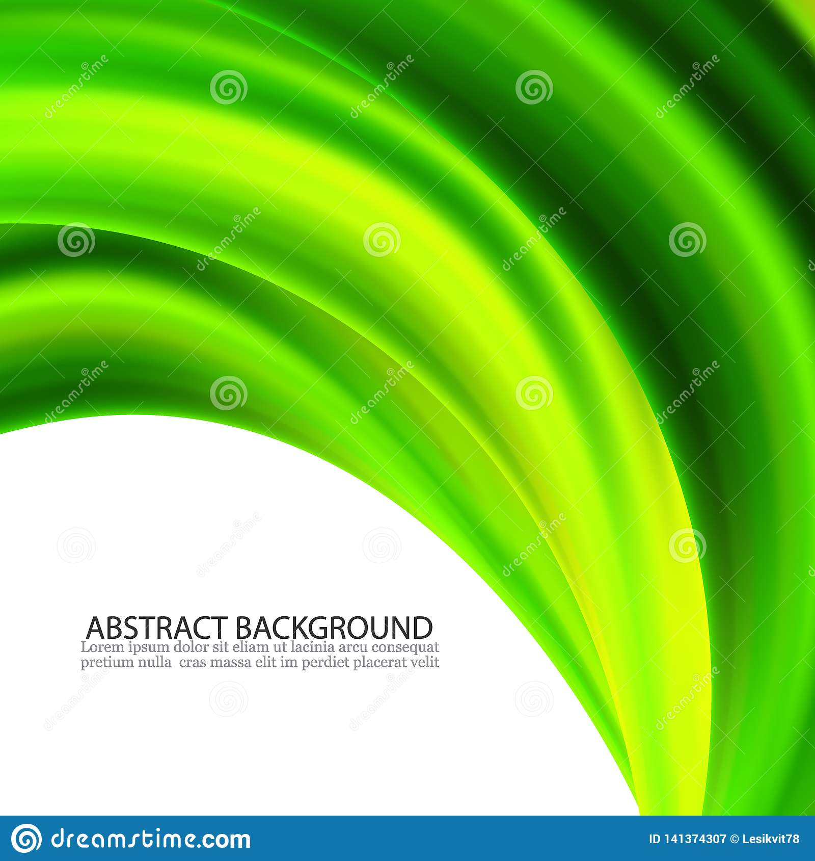 Abstract Vector Green Wavy Lines Colorful Vector Green Wave