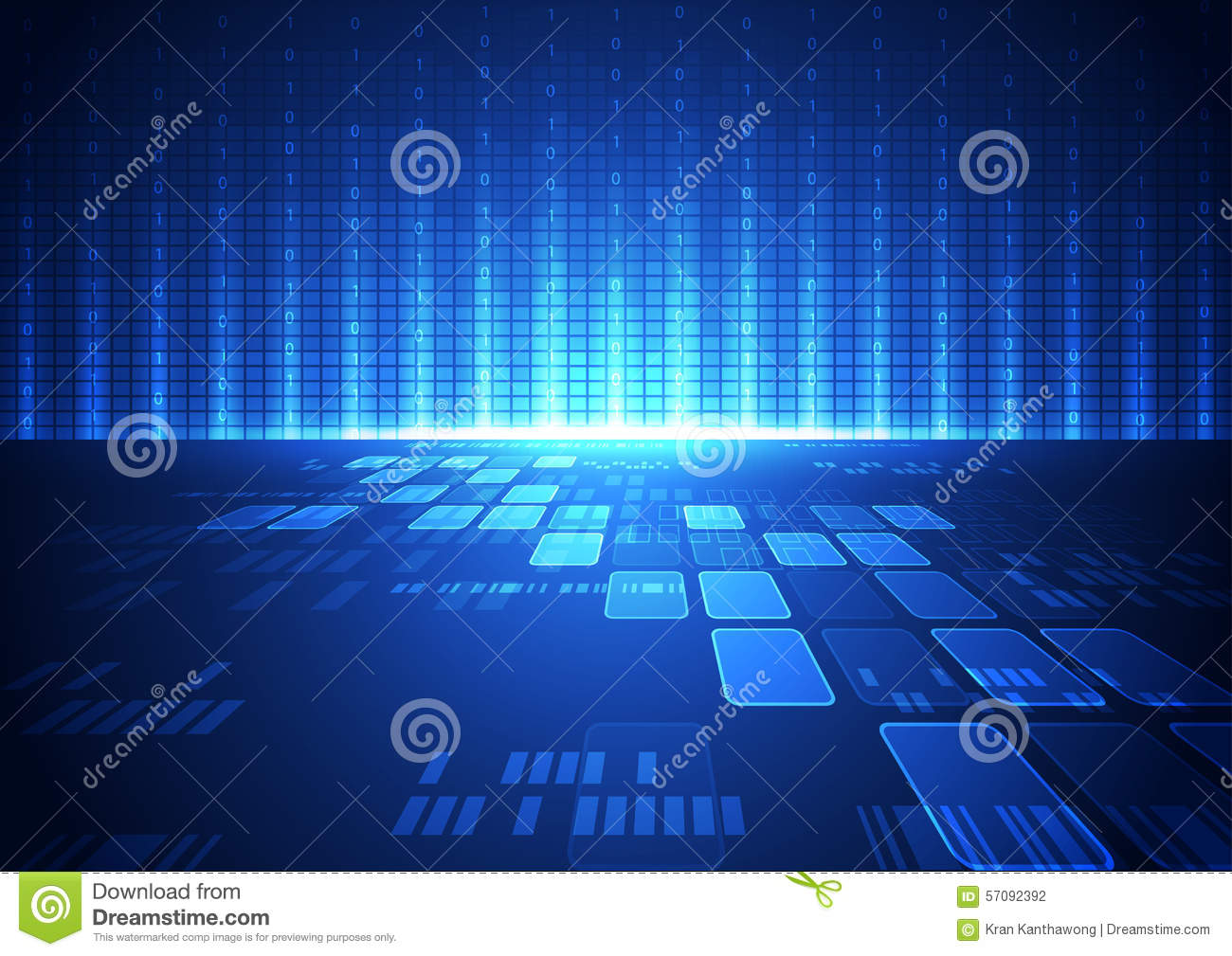 Technology Abstract Background Stock Illustration: Abstract Vector Hi Speed Internet Technology Background