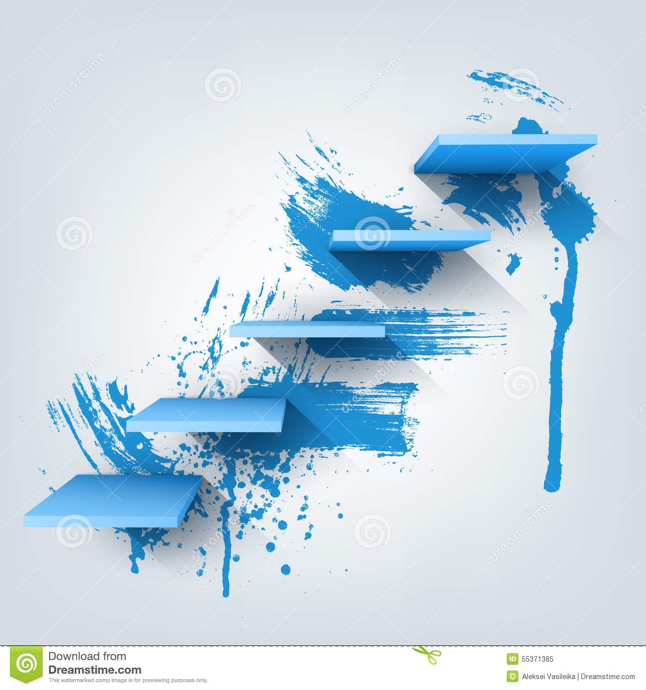 Abstract Vector Illustration. Composition Of 3d Stock Vector ...