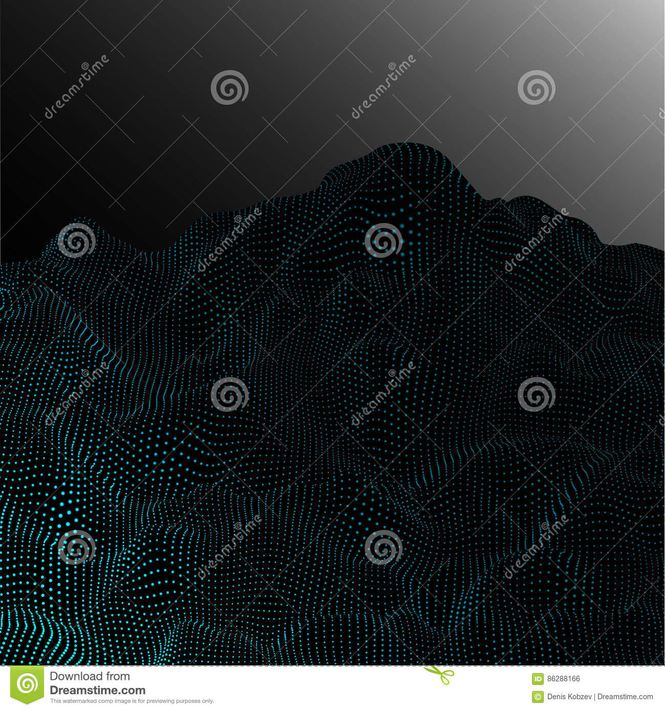 Abstract vector landscape background. 3d technology vector illustration.EPS10
