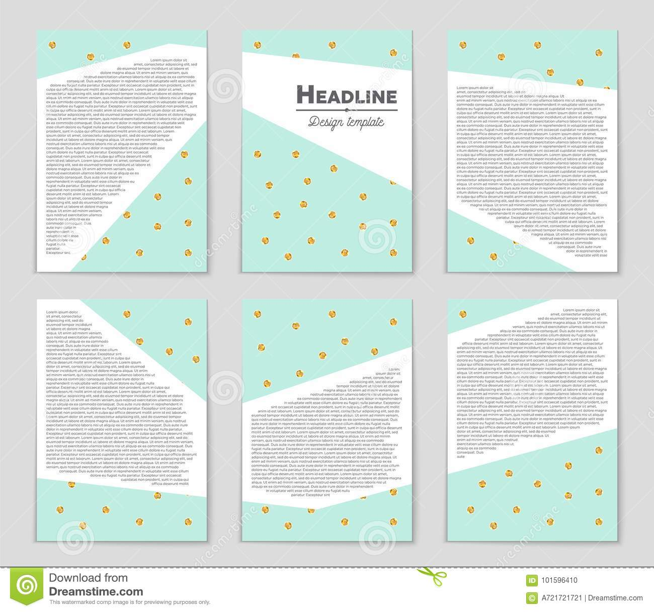 Abstract Vector Layout Background Set. For Art Template
