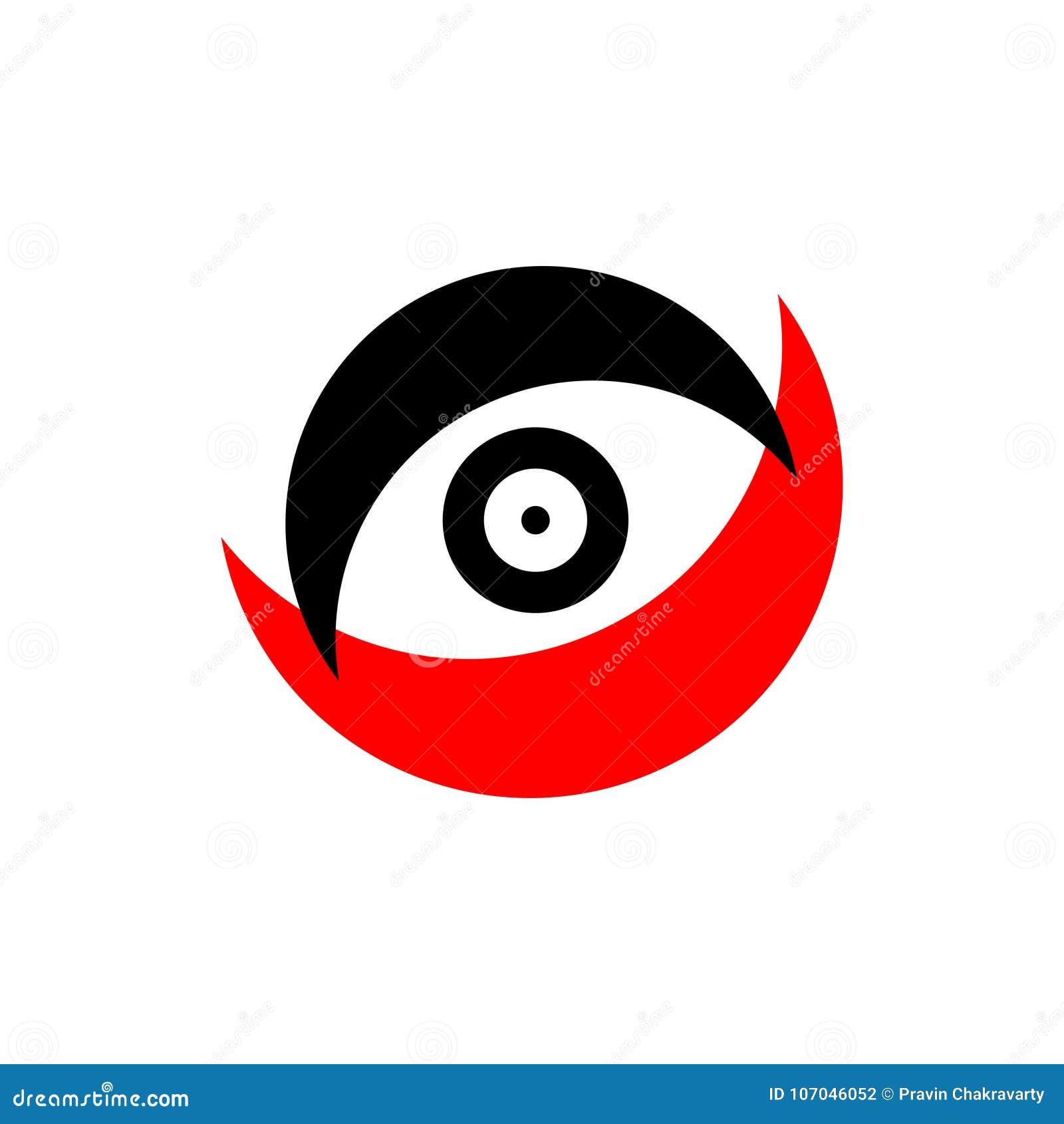 Abstract Vector Logo Design For Eye Care Vector Illustration Stock