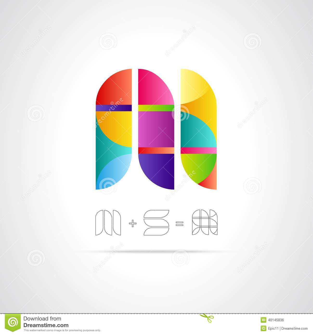 Combination of Letters M and S. Abstract Vector Logo Design Template ...