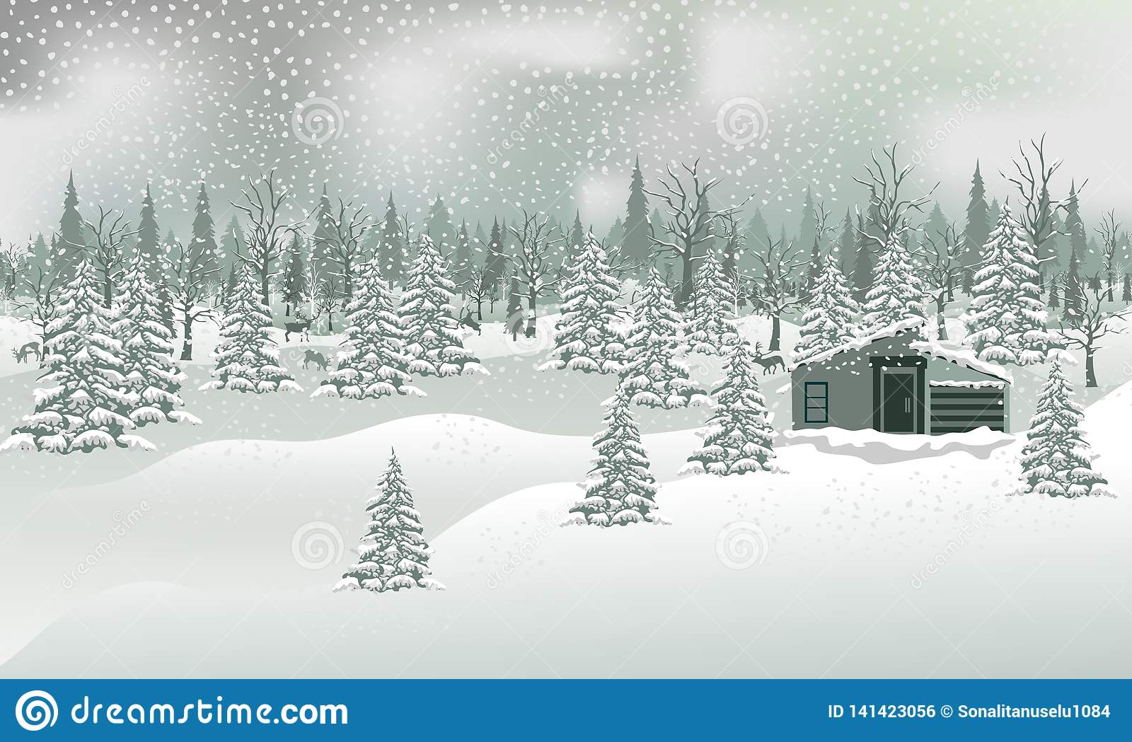 Abstract Christmas Background Stock Vector Illustration