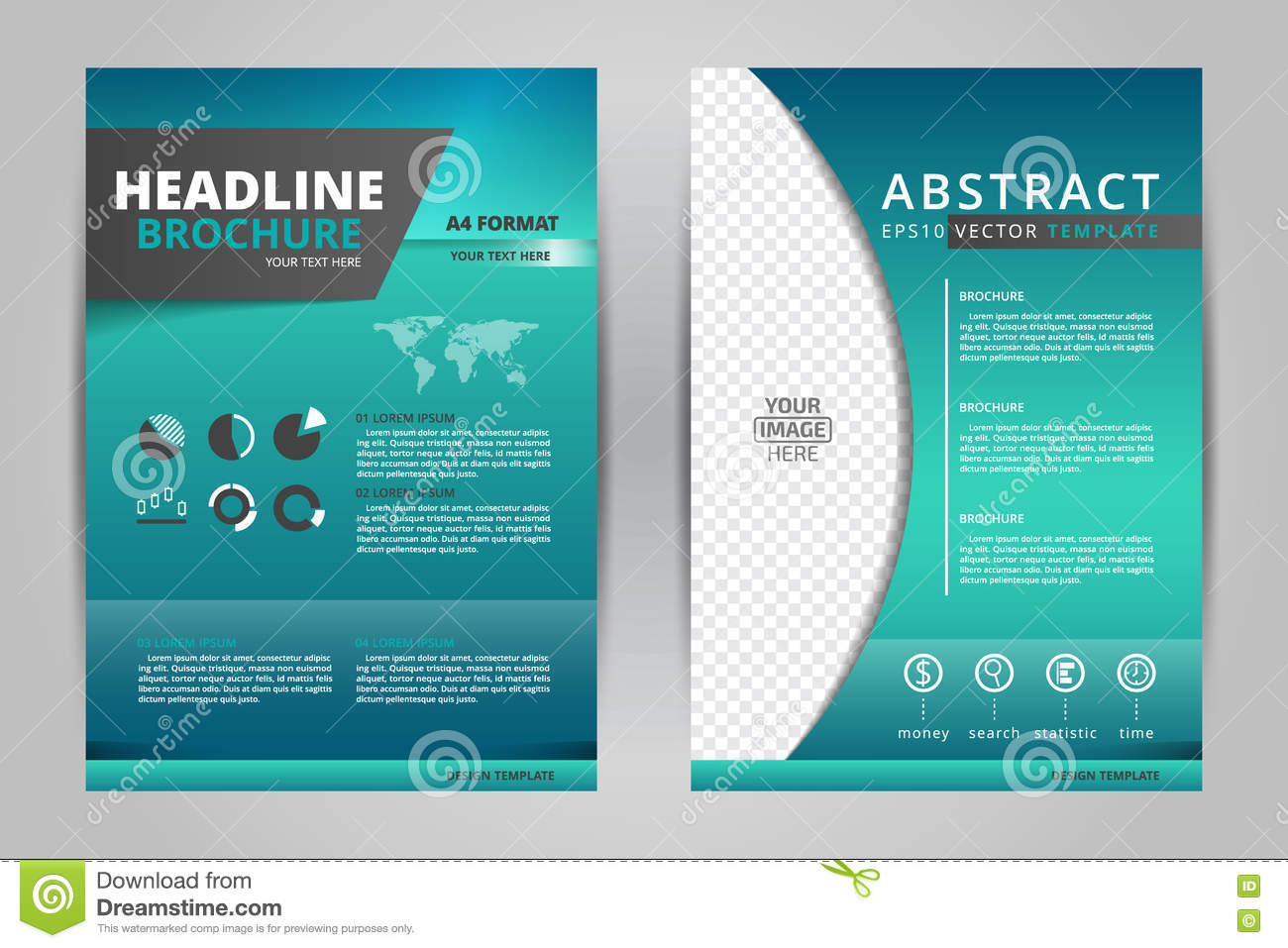 Abstract vector modern flyers brochure annual report for Modern brochure design templates