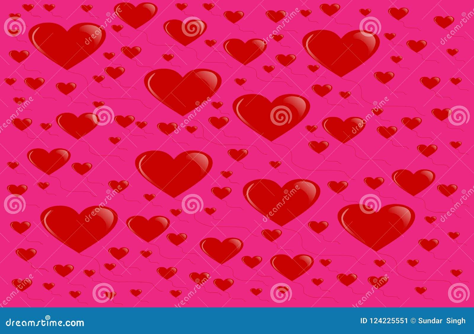 Valentines Day Background Love Romantic Theme Monochrome Repeat