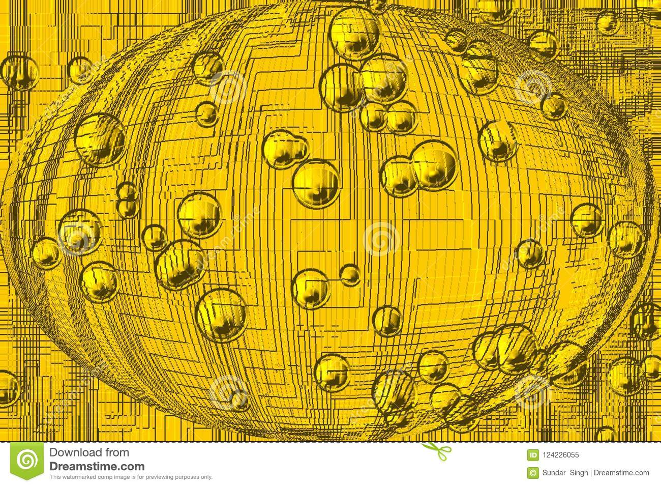 Abstract Vector Yellow Colour Background Wallpaper Stock Image
