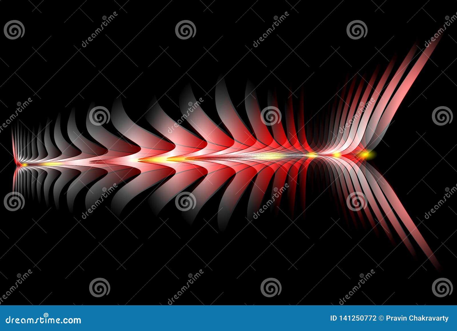 Abstract vector multicolored in de schaduw gesteld golvend behang als achtergrond levendige kleuren vectorillustratie