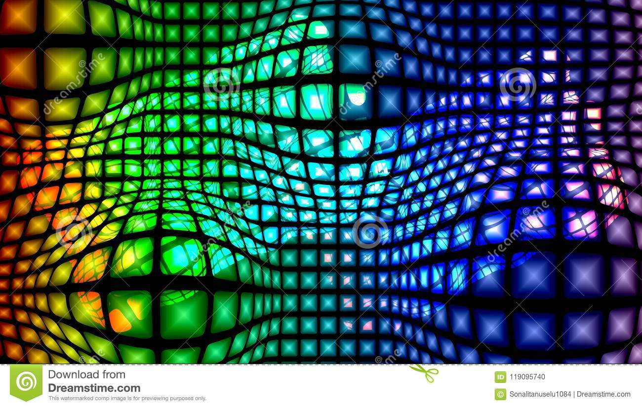 Abstract vector multicolored textured background with lighting effect, vector illustration.