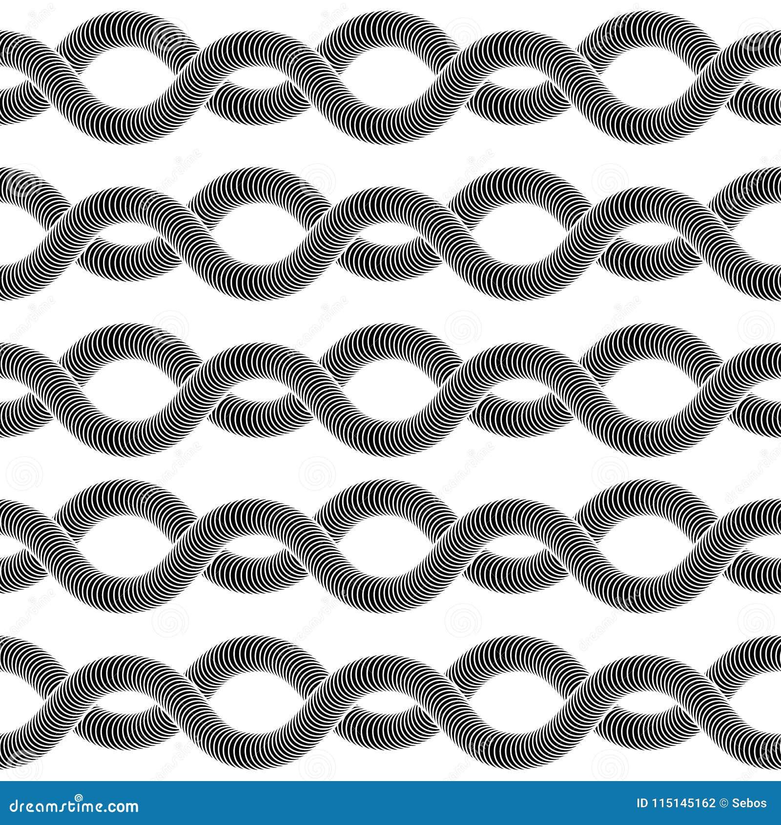 Abstract vector naadloos op kunstpatroon
