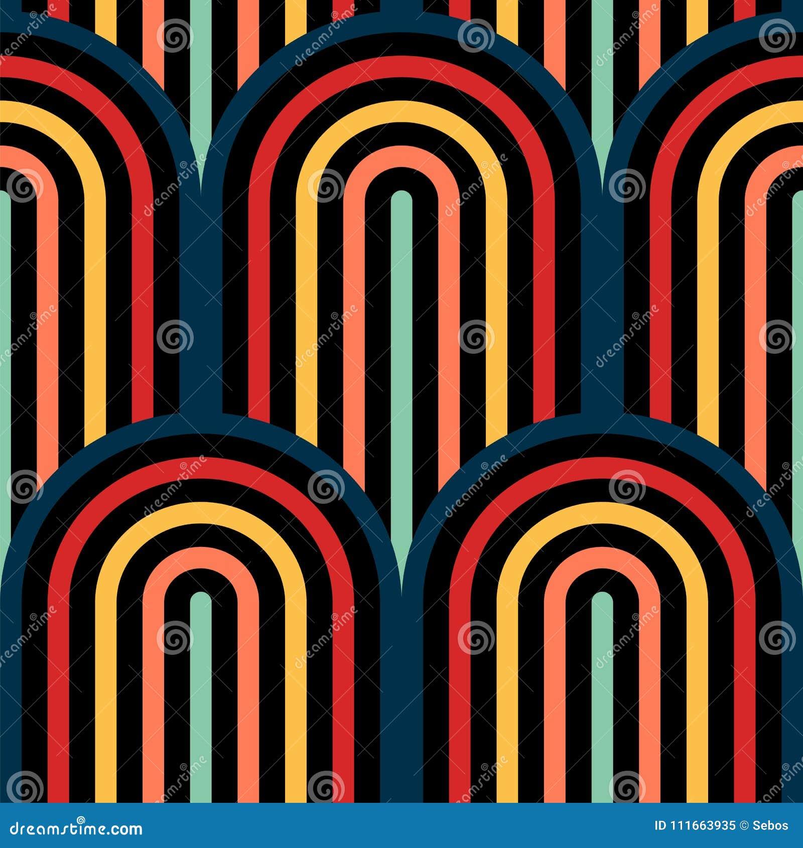Abstract vector naadloos op kunstpatroon Kleurenpop-art, grafisch ornament Optische illusie