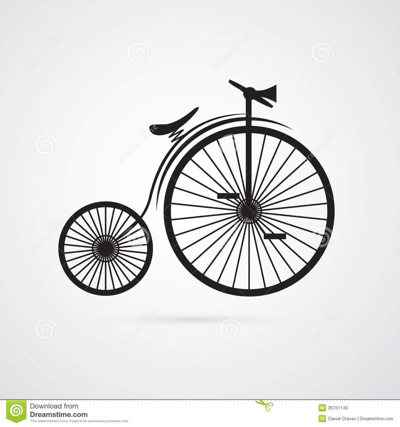 Abstract Vector Old, Vintage Bicycle, Bike Stock Vector ...