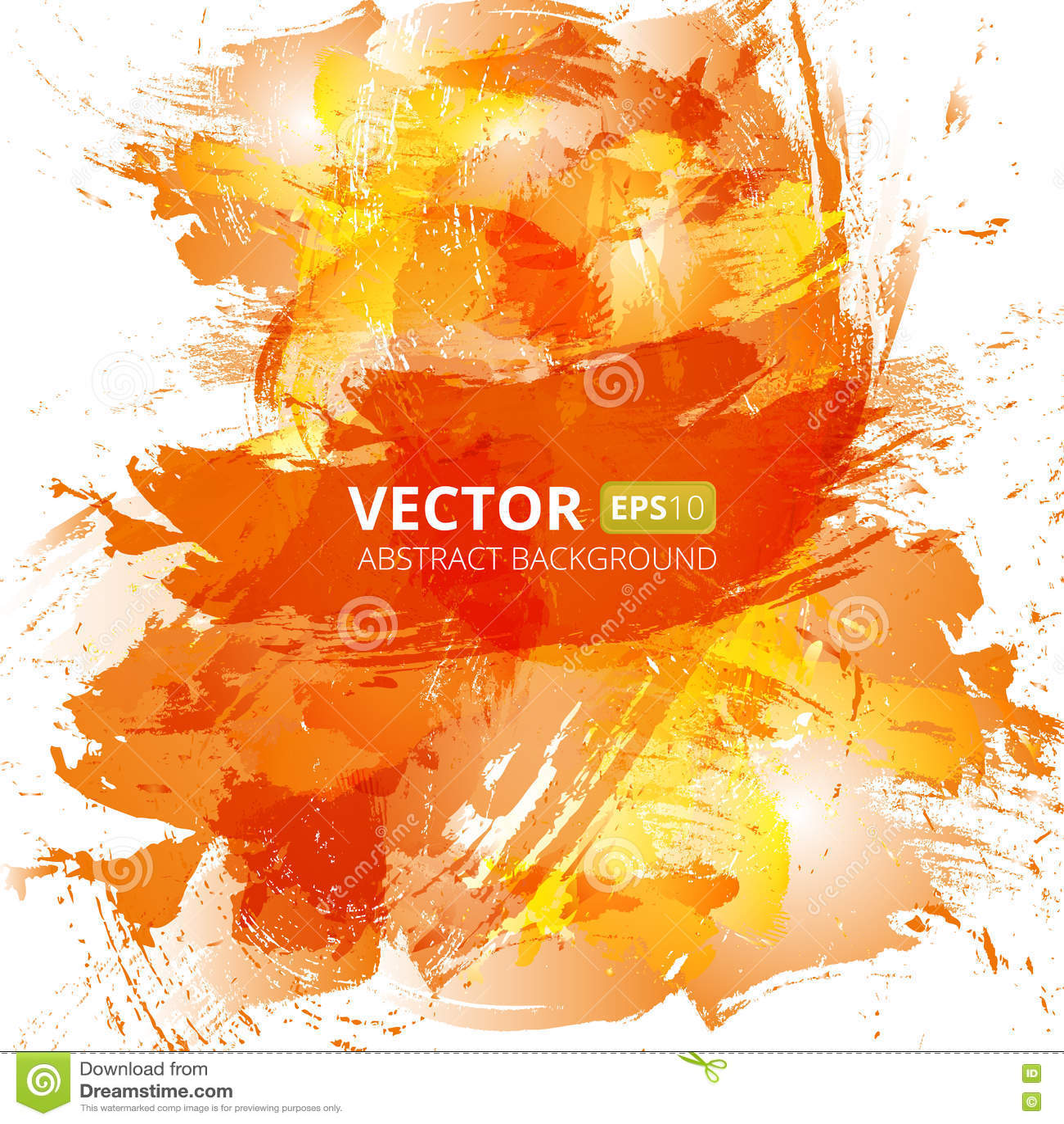 Abstract Vector Orange Watercolor Background Stock Vector