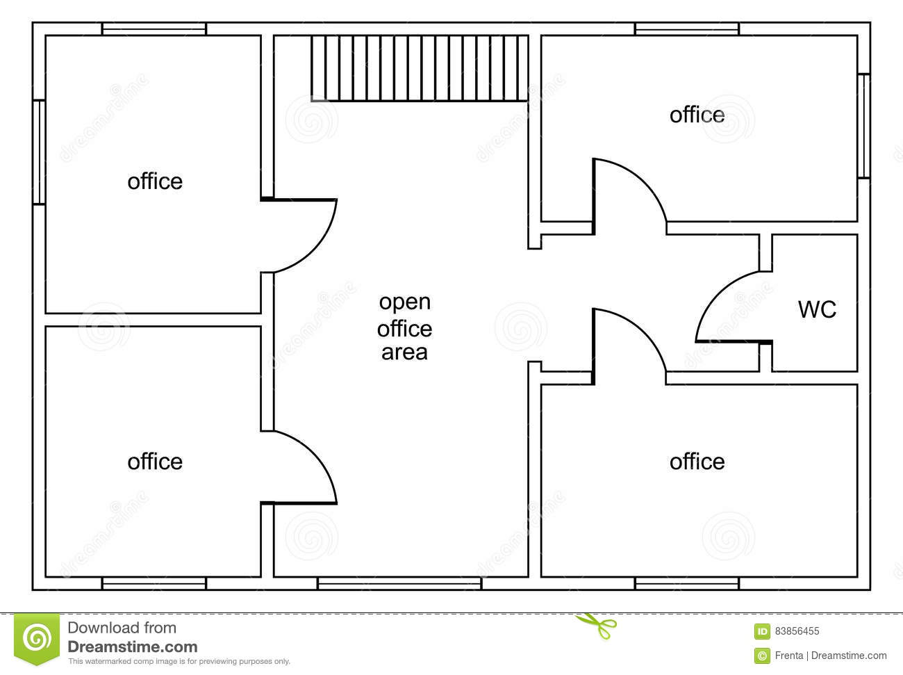 Abstract Vector Plan Of Office Building Stock Vector Image 83856455