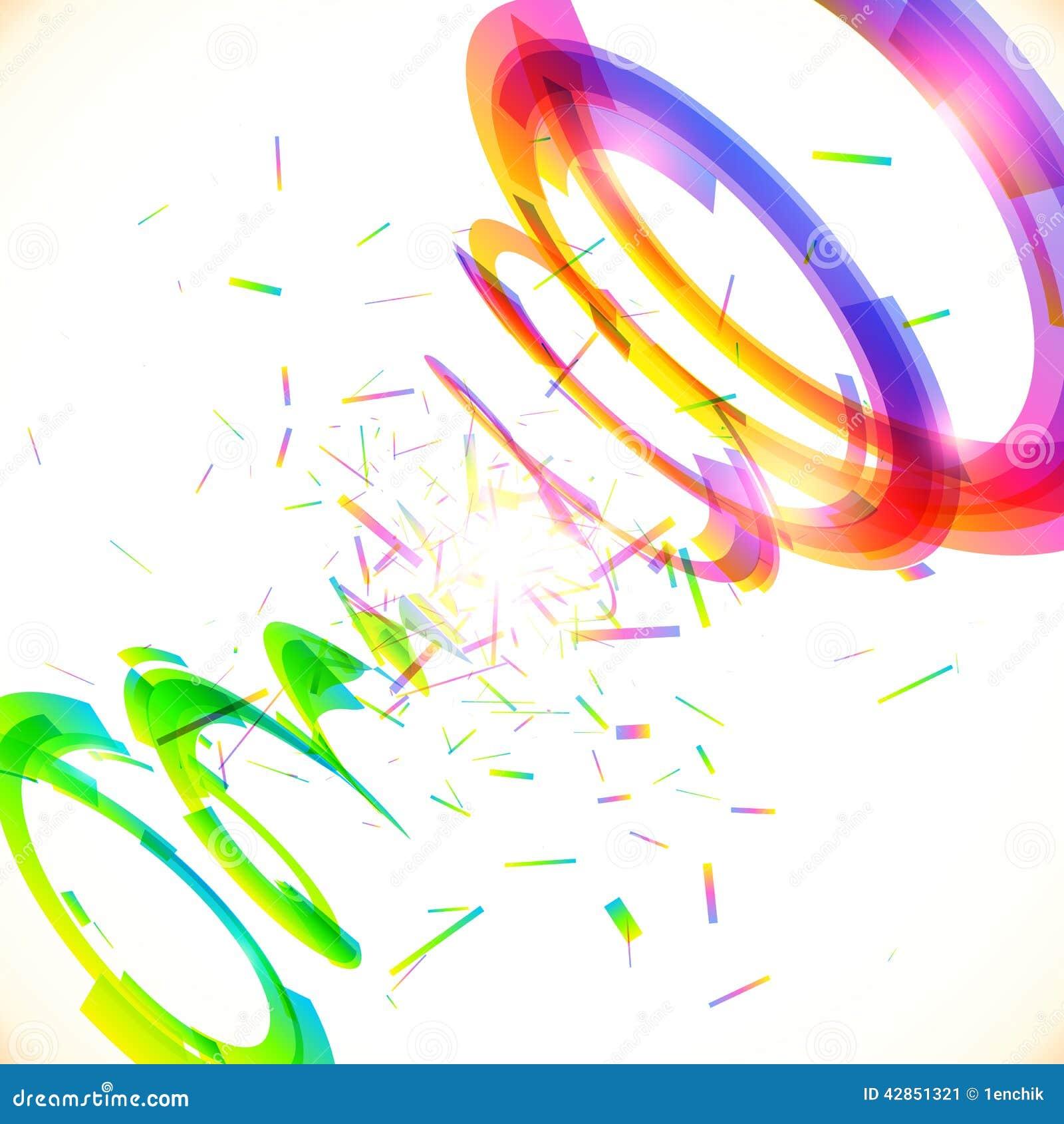 Abstract vector rainbow colors tornado