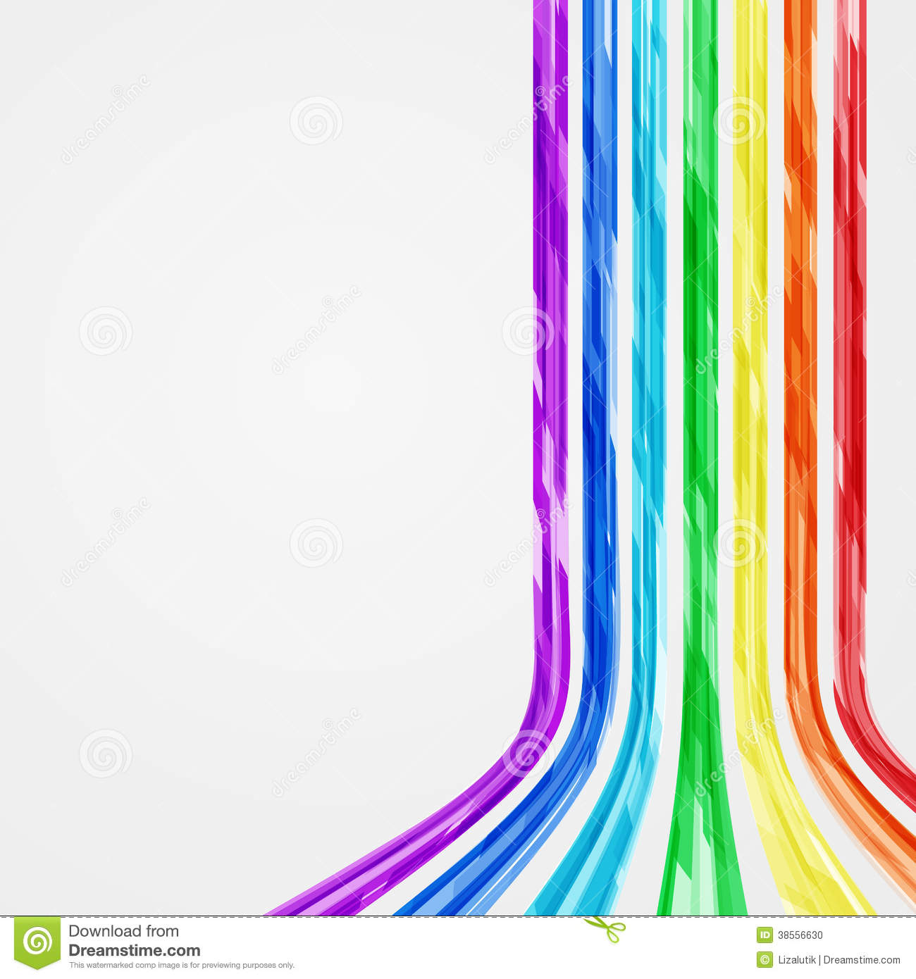 Abstract Vector Rainbow Lines Background. Stock Vector ...