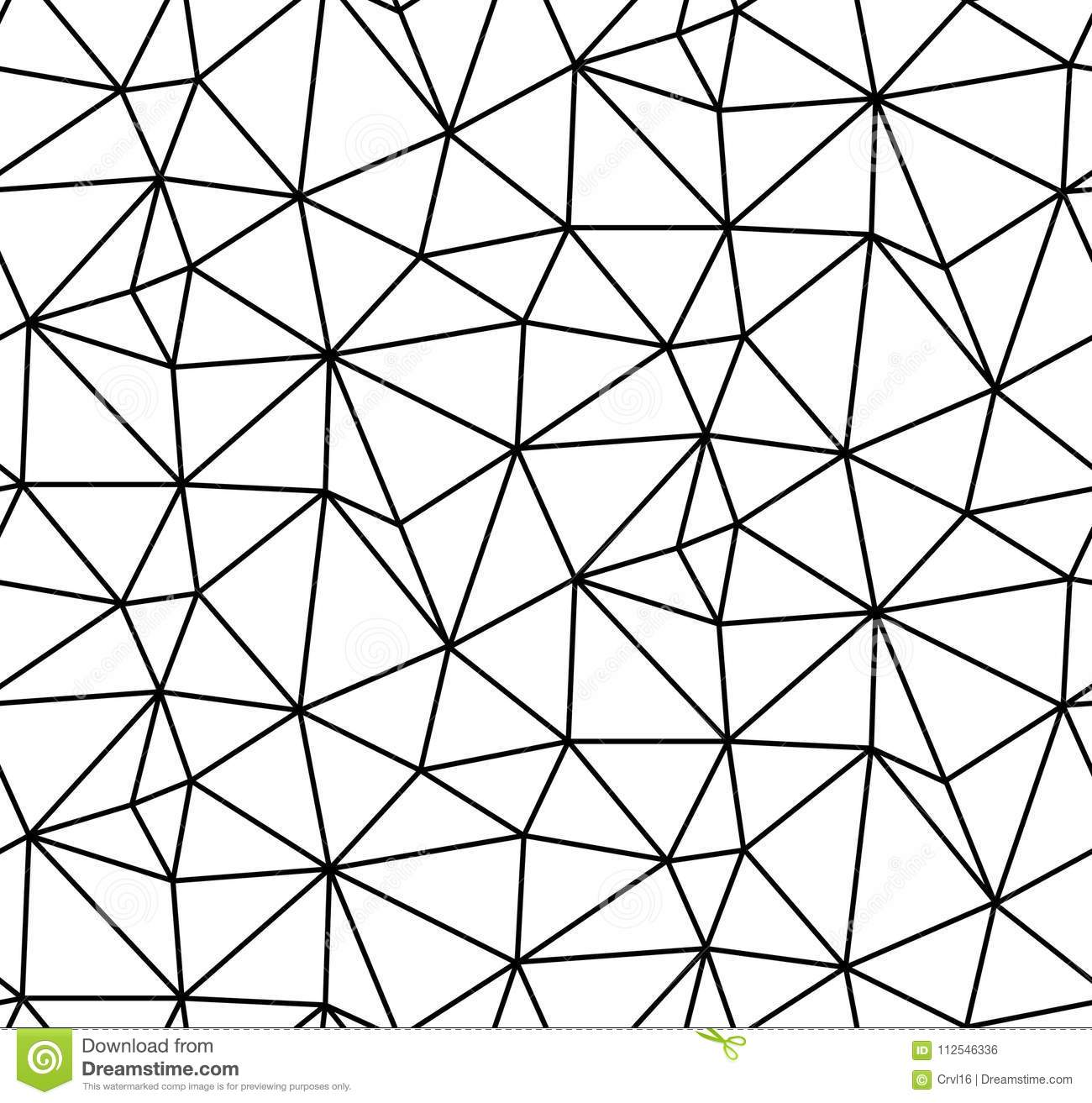 Abstract vector seamless white background of black lines.