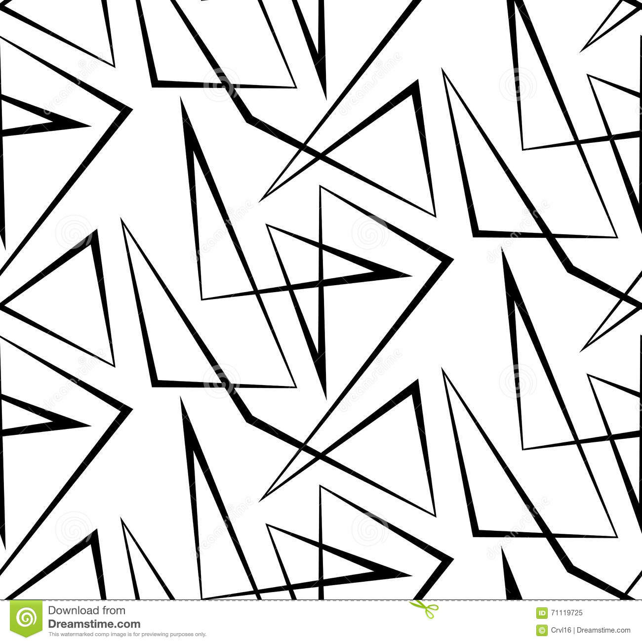 Abstract Vector Seamless White Background Of Black Lines