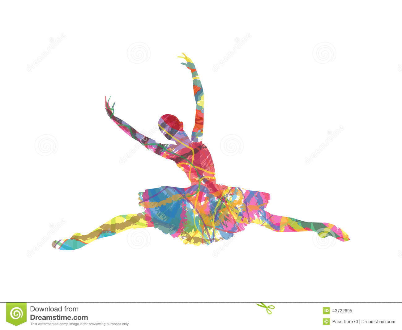 Abstract Vector Silhouette Dancing Girl Stock Vector - Image: 43722695: www.dreamstime.com/stock-illustration-abstract-vector-silhouette...